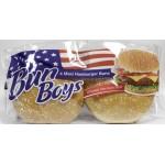 Булочки для гамбургеров BUN BOYS с кунжутом большие 75г в упаковке, 4 шт