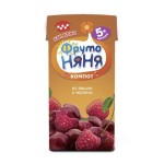 Компот ФРУТОНЯНЯ из вишни и малины, 200мл