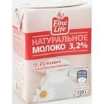 Молоко FINE LIFE стерилизованное 3,2%, 200г