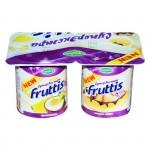 Йогуртовый продукт FRUTTIS Банана-сплит/ пинаколада 8%, 115 г