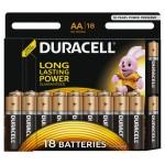 Батарейки DURACELL Basic АА в упаковке, 18 штук