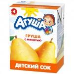 Сок АГУША Груша с мякотью в упаковке, 3х200мл