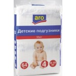 Подгузники ARO maxi 4 (8-18кг), 64шт