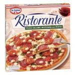 Пицца RISTORANTE Salame Mozzarella Pesto, 380г