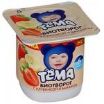 Творог ТЕМА клубника/банан, 100 г