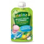 Детское пюре HEINZ Яблоко, персик, сливки, 90г