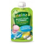 Детское пюре HEINZ Яблоко, груша, сливки, 90г