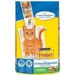 Корм для стерилизованных кошек и котов FRISKIES с кроликом и полезными овощами, 1,5кг