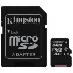 Карта памяти MicroSD KINGSTON SDC10G2 64GB