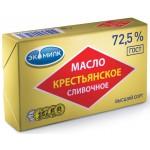 Масло сливочное ЭКОМИЛК Крестьянское 72,5% , 180г