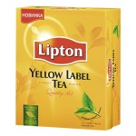 Чай LIPTON Yellow Label черный, 100 пак.
