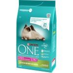 Корм PURINA ONE для домашних кошек с индейкой и цельными злаками, 1,5кг