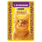 Корм для кошек FRISKIES с ягненком, 85г