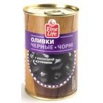 Оливки черные FINE LIFE с косточкой, 300г