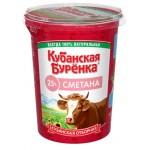Сметана КУБАНСКАЯ БУРЕНКА 25%, 330г