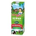 Кефир ДОМИК В ДЕРЕВНЕ на живой закваске 2,5%, 950г