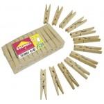 Прищепки ROZENBAL березовые в упаковке, 24 шт