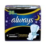Женские гигиенические прокладки ALWAYS Night Single, 6 шт