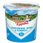 Творожное зерно ДОМИК В ДЕРЕВНЕ в сливках 5%, 350 г