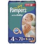 Подгузники PAMPERS Active baby jumbo maxi 4 (7-14кг), 70шт