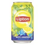 Холодный чай LIPTON вкус лимона, 0,33 л
