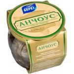 Анчоус БАЛТИЙСКИЙ филе пряного посола в масле с оливками, 145 г