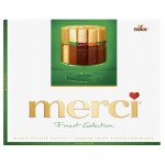 Конфеты шоколадные MERCI с миндалем, 250г