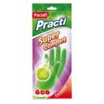 Перчатки резиновые PACLAN Super Comfort хозяйственные с ароматом яблока (S,M,L)
