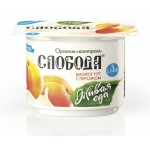 Биойогурт СЛОБОДА с персиком, 125г