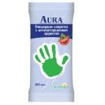 Салфетки AURA очищающие с антибактериальным эффектом с ромашкой, 15 шт