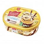 Мороженое пломбир ЗОЛОТОЙ СТАНДАРТ Шоколадный контейнер, 500г