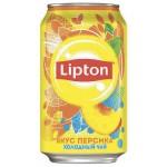 Холодный чай LIPTON вкус персика, 0,33 л