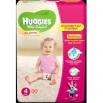 Подгузники для девочек HUGGIES Ultra Comfort 4 (8-14кг), 80шт
