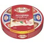 Сыр плавленый PRESIDENT Ассорти 8 треугольников, 140 г