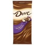 Шоколад DOVE молочный с фундуком и изюмом, 90 г