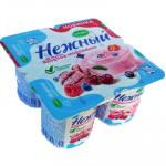 Йогурт НЕЖНЫЙ со вкусом ягодное мороженое 1,2%, 100г