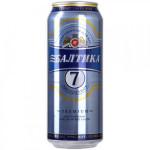 Пиво свелое БАЛТИКА №7 Экспортное лагер железная банка в упаковке, 24х0,45л