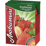 Напиток ЛЮБИМЫЙ Земляничное лето, 0,2 л