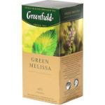Чай GREENFIELD Green Melissa, 25х1,5г