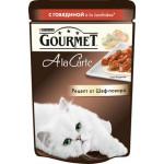 Корм для кошек GOURMET Ala carte с говядиной, 85 г
