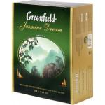 Чай зеленый GREENFIELD Jasmine Dream пакетированный в упаковке, 100х2г