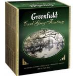 Чай черный GREENFIELD Earl Grey пакетированный в упаковке, 100х2г