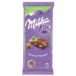 Шоколад молочный MILKA цельный фундук, 90г