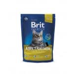 Корм BRIT для взрослых кошек с лососем, 800г