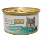 Консервы для котят BRIT с цыпленком, 80г