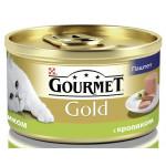Консервы для кошек GOURMET Gold кусочки в паштете с кроликом по-французски, 85г