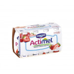 Функциональный напиток ACTIMEL клубника в упаковке, 8х100г