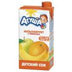 Сок детский АГУША Мультифрукт с мякотью, 500мл