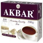 Чай черный AKBAR Pure black tea пакетированный в упаковке, 100х2г