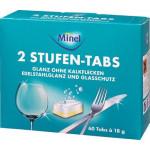 Таблетки для посудомоечных машин MINEL 2 в 1, 60х18 г